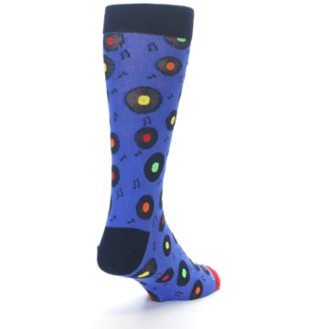 Image of Blue Multi Music Records Men's Dress Socks (side-1-back-20)
