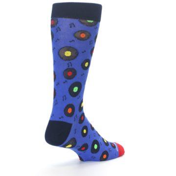 Image of Blue Multi Music Records Men's Dress Socks (side-1-back-21)