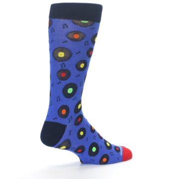 Image of Blue Multi Music Records Men's Dress Socks (side-1-back-22)