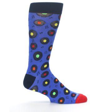 Image of Blue Multi Music Records Men's Dress Socks (side-1-24)