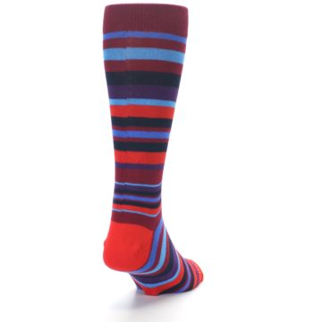 Image of Reds Purple Stripe Men's Dress Socks (back-19)