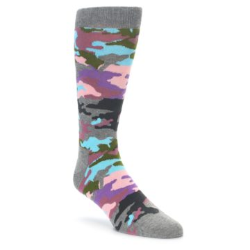 Happy Socks Bark Camo Pastel Socks for Men