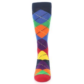 Image of Bright Multi Argyle Men's Dress Socks (front-05)