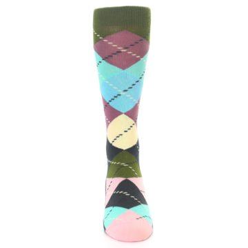 Image of Pastel Argyle Men's Dress Socks (front-04)