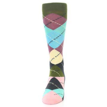 Image of Pastel Argyle Men's Dress Socks (front-05)