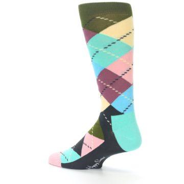 Image of Pastel Argyle Men's Dress Socks (side-2-13)