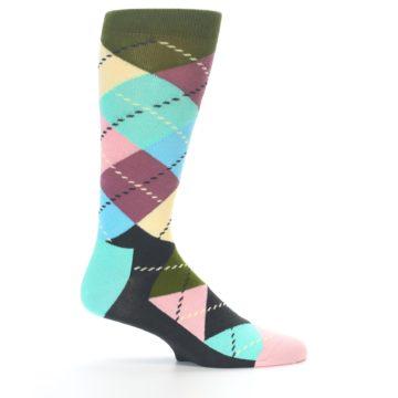 Image of Pastel Argyle Men's Dress Socks (side-1-24)