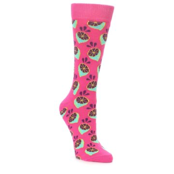 Image of Pink Limes Women's Dress Socks (side-1-front-01)