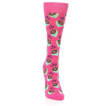 Image of Pink Limes Women's Dress Socks (side-1-front-03)