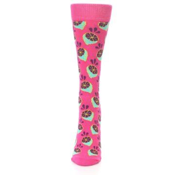 Image of Pink Limes Women's Dress Socks (front-05)