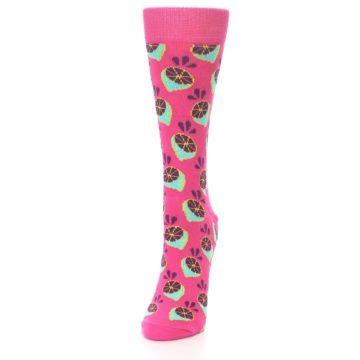 Image of Pink Limes Women's Dress Socks (side-2-front-06)