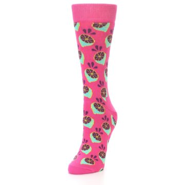 Image of Pink Limes Women's Dress Socks (side-2-front-07)