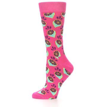 Image of Pink Limes Women's Dress Socks (side-2-10)