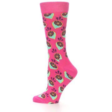 Image of Pink Limes Women's Dress Socks (side-2-11)