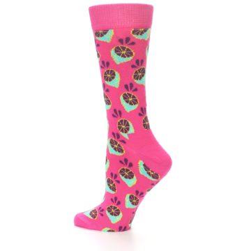 Image of Pink Limes Women's Dress Socks (side-2-12)