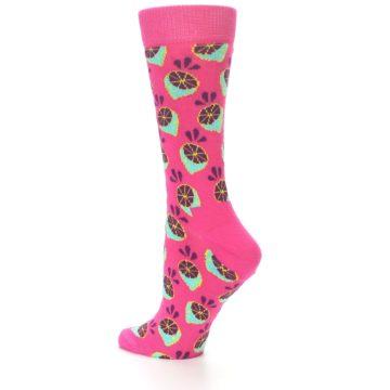 Image of Pink Limes Women's Dress Socks (side-2-13)