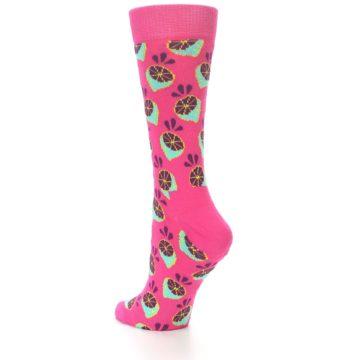 Image of Pink Limes Women's Dress Socks (side-2-back-14)
