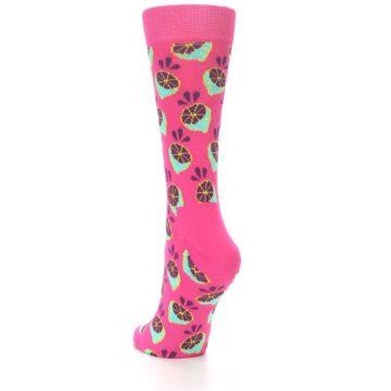Image of Pink Limes Women's Dress Socks (side-2-back-15)