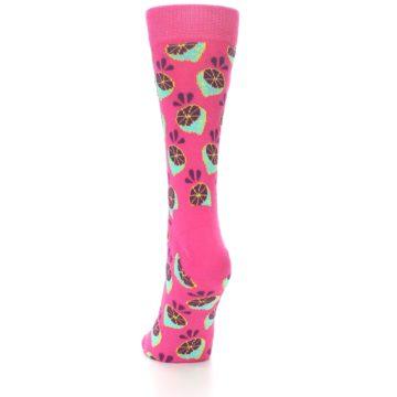 Image of Pink Limes Women's Dress Socks (side-2-back-16)