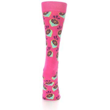 Image of Pink Limes Women's Dress Socks (back-18)