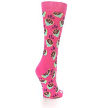 Image of Pink Limes Women's Dress Socks (side-1-back-20)