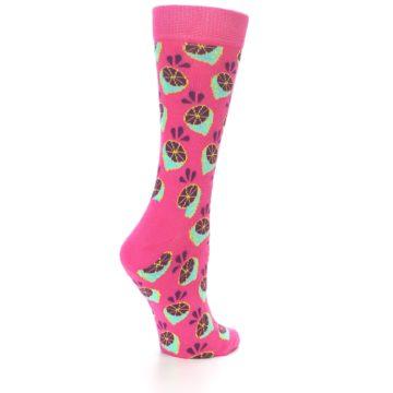 Image of Pink Limes Women's Dress Socks (side-1-back-21)
