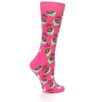 Image of Pink Limes Women's Dress Socks (side-1-back-22)