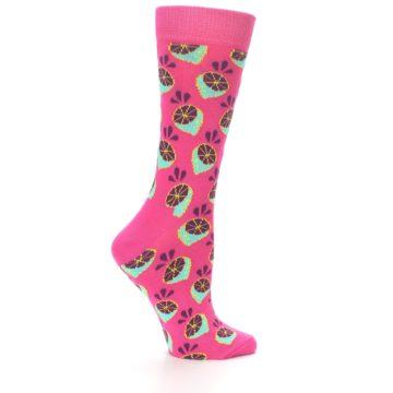 Image of Pink Limes Women's Dress Socks (side-1-23)