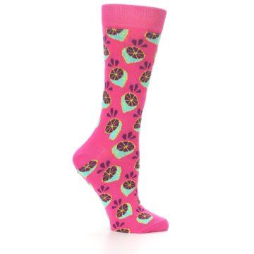 Image of Pink Limes Women's Dress Socks (side-1-24)