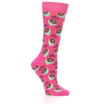 Image of Pink Limes Women's Dress Socks (side-1-25)