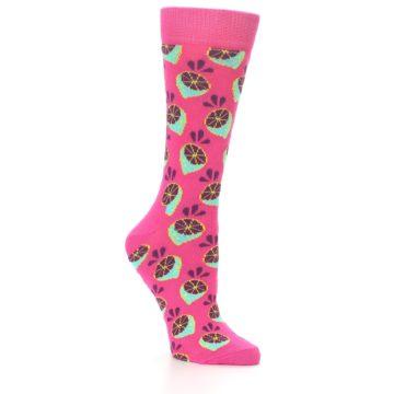 Image of Pink Limes Women's Dress Socks (side-1-26)