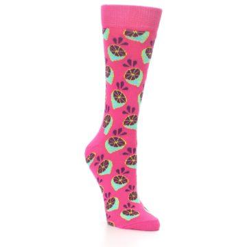 Image of Pink Limes Women's Dress Socks (side-1-27)