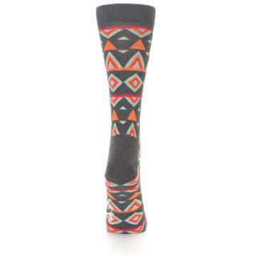 Image of Charcoal Temple Pattern Women's Dress Socks (back-18)