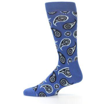 Image of Blue Paisley Men's Dress Socks (side-2-11)
