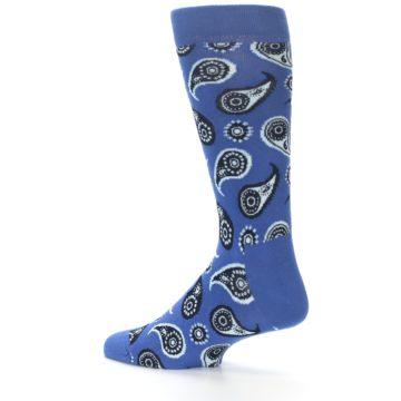 Image of Blue Paisley Men's Dress Socks (side-2-13)