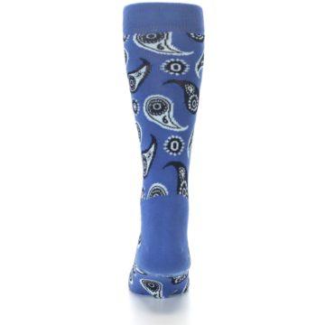 Image of Blue Paisley Men's Dress Socks (back-17)