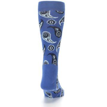 Image of Blue Paisley Men's Dress Socks (back-18)