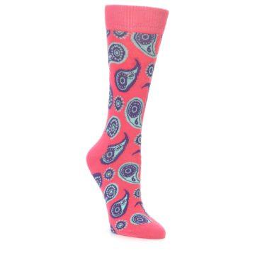 Women's Paisley Happy Socks in Pink
