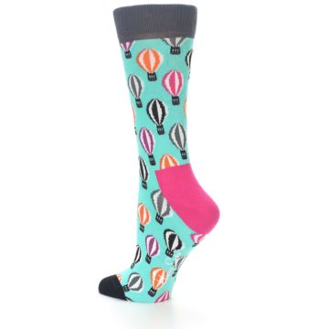 Image of Turquoise Hot Air Baloons Women's Dress Socks (side-2-13)