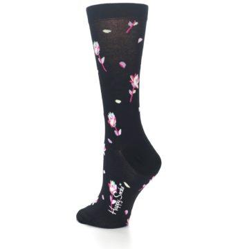 Image of Black Pink Rose Women's Dress Socks (side-2-back-14)