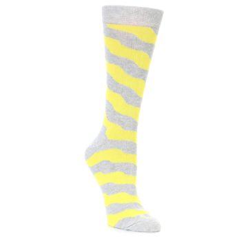 Women's Happy Socks Yellow Wave Stripe Socks