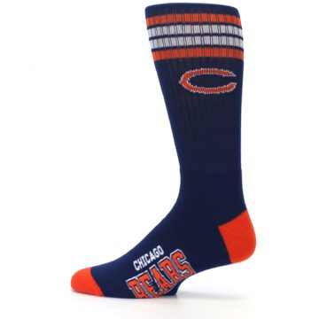 Image of Chicago Bears Men's Athletic Crew Socks (side-2-12)