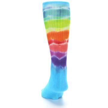 Image of Blue Multi Men's Bamboo Tie Dye Socks (back-17)