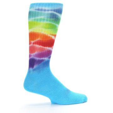 Image of Blue Multi Men's Bamboo Tie Dye Socks (side-1-24)