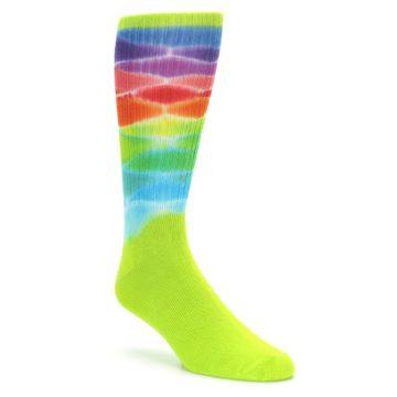 Lime Green Tie Dye Socks for Men