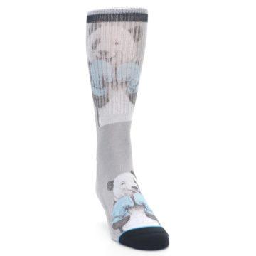 Image of Grey Boxing Panda Men's Casual Socks (side-1-front-03)