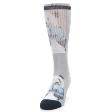 Image of Grey Boxing Panda Men's Casual Socks (side-2-front-06)