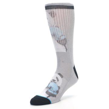 Image of Grey Boxing Panda Men's Casual Socks (side-2-front-08)