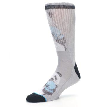 Image of Grey Boxing Panda Men's Casual Socks (side-2-09)