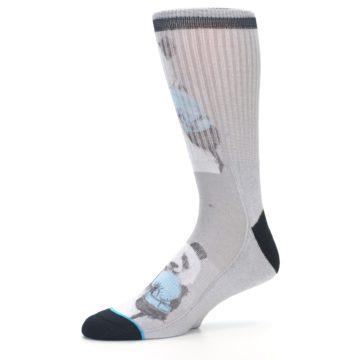 Image of Grey Boxing Panda Men's Casual Socks (side-2-10)